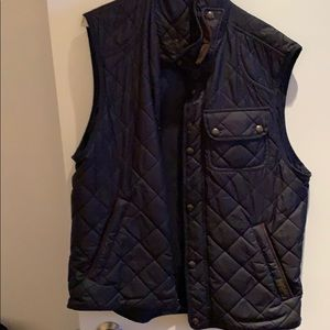 Men's quilted polo vest